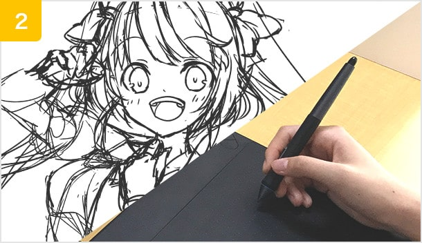 技術書ではわからない先生の筆の動きが見られる!