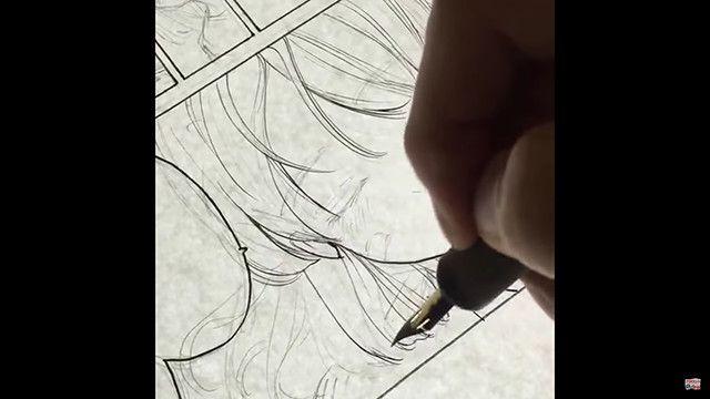 Gペンで!女の子の髪の毛ペン入れメイキング|吉村拓也先生のメイキング講座
